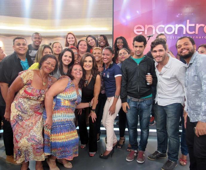 Parte da plateia do 'Encontro' com a Fátima  (Foto: Carolina Morgado/Gshow)