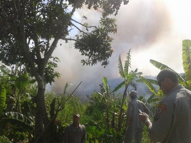 Incêndio em Cabo Frio (Foto: Mateus Marinho/Inter TV)
