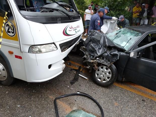 Grávida que morreu no acidente tinha 17 anos (Foto: Wilson Schmidt Junior/Rádio Cidade AM Brusque)