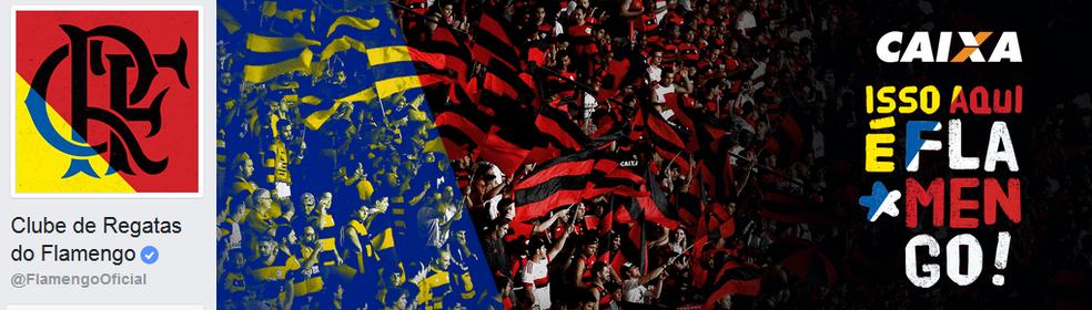 ... Flamengo adota identidade com cores azul e amarela nas redes sociais  (Foto  Reprodução) 7ae6d05f1fce5