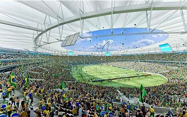 Projeto Maracanã Copa 2014 (Foto: Fernandes Arquitetos / Portal 2014)