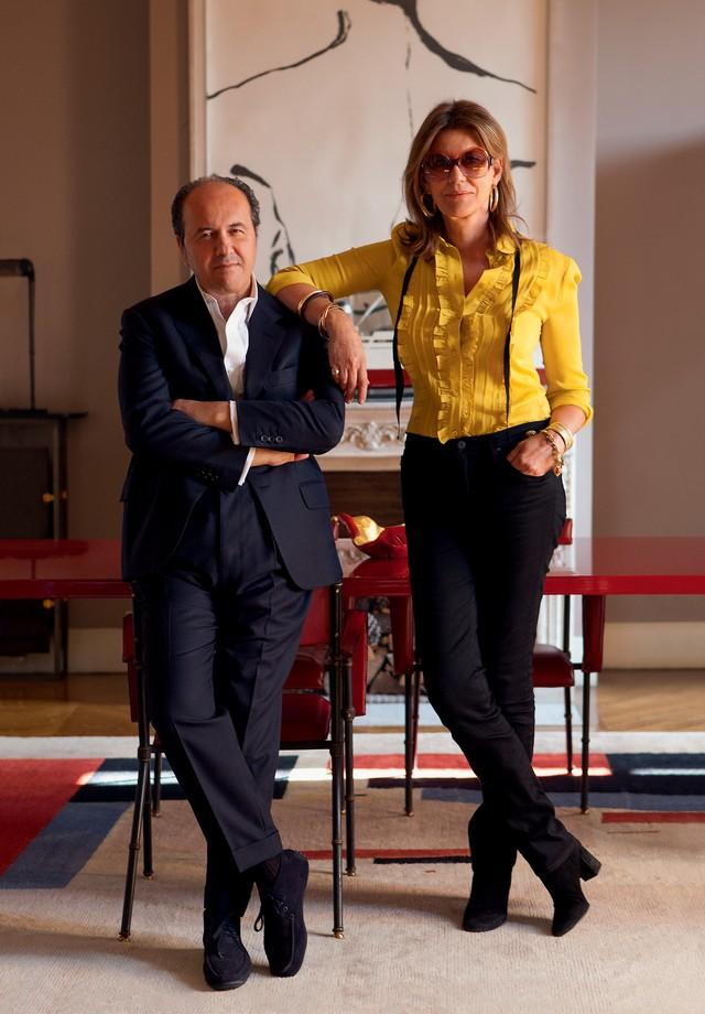 O casal Prosper e Martine Assouline (Foto: Emilia Brandão)