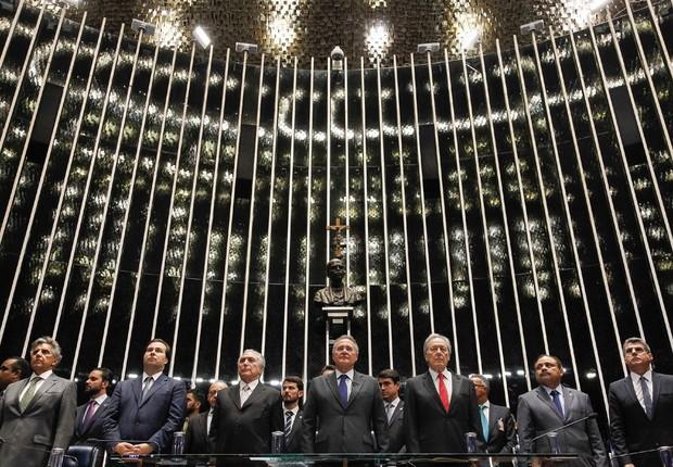 Michel Temer toma posse como presidente em cerimônia no Senado (Foto: Beto Barata/PR)