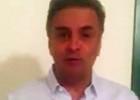 Aécio diz que campanha do PT usou 'infâmia e mentira' (Reprodução)