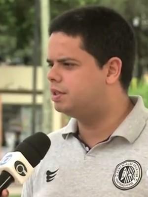 Presidente do ASA, Bruno Euclides destaca otimismo pela classificação (Foto: Reprodução/TV Gazeta)