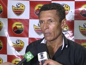 Paulo Sales, técnico do Paraíba de Cajazeiras (Foto: Reprodução / TV Paraíba)