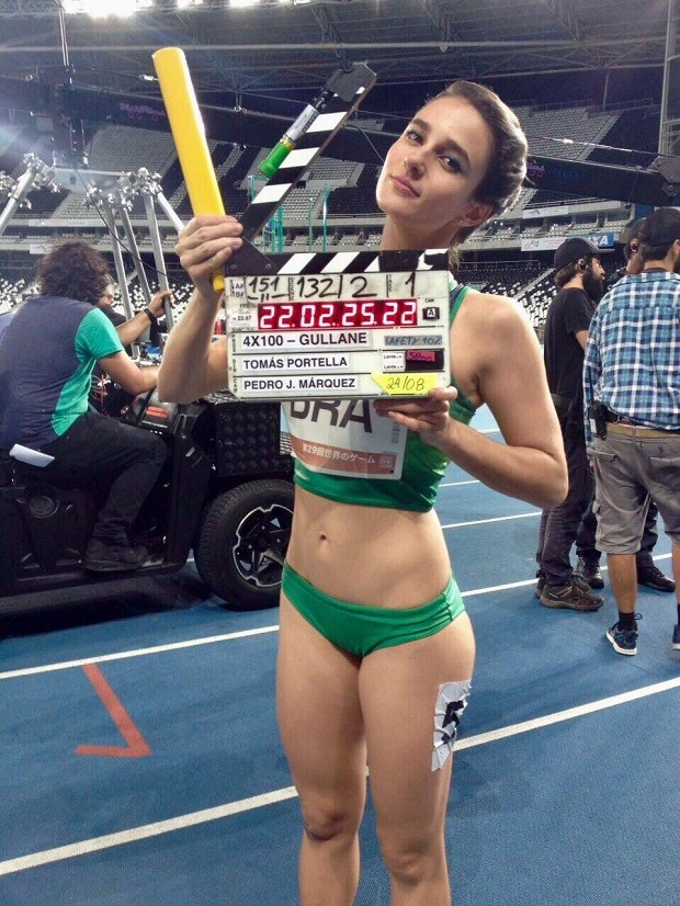 Priscila Steinman caracterizada para o filme '4 X 100' (Foto: Divulgação)