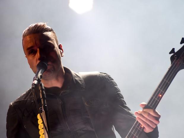 Banda britânica Muse em apresentação em São Paulo neste sábado (24), no Allianz Parque (Foto: Flavio Moraes/G1)