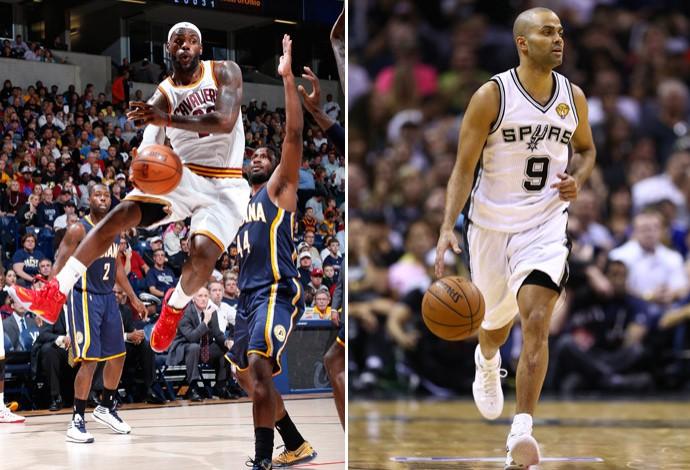 lebron james tony parker montagem basquete nba (Foto: Getty Images)