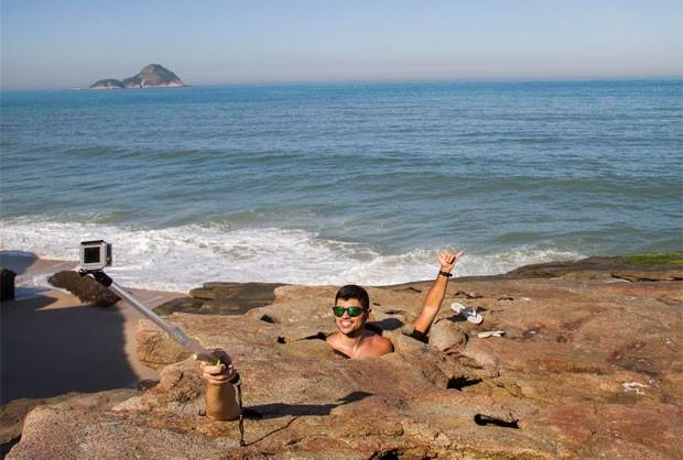 Pedra da Lua faz sucesso em Guaratiba, na Zona Oeste do Rio (Foto: Bruno Santana / Arquivo Pessoal / 360 Sports)