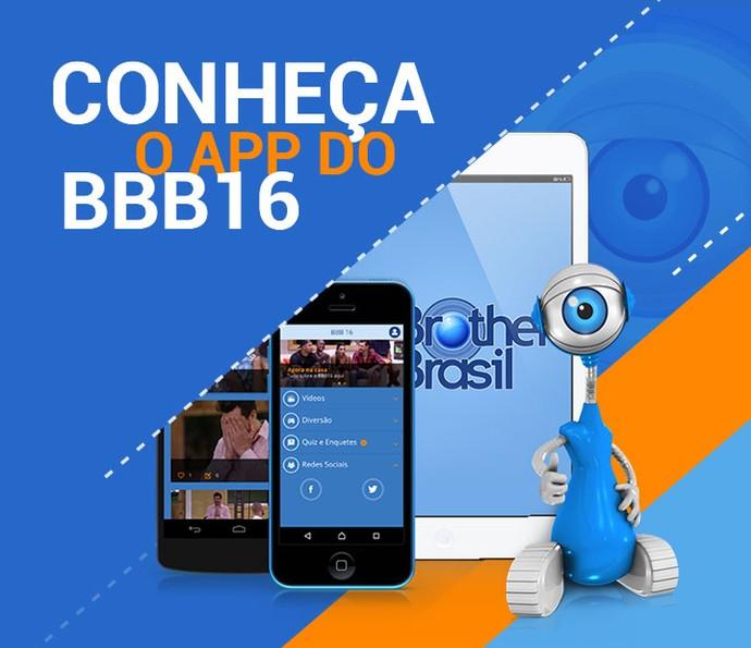 Aplicativo BBB16 (Foto: Big Brother Brasil / Gshow)
