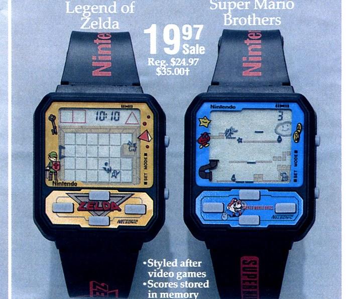 Relógios traziam jogos da licenciados da Nintendo, inclusive Legend of Zelda (Foto: Reprodução / vintagecomputing.com)
