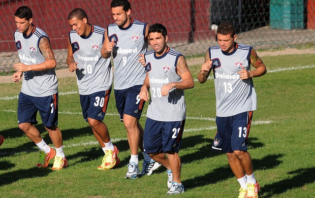 Deco, Fred, Thiago Neves, Edinho e Bruno, Fluminense (Foto: Dhavid Normando / Photocamera)