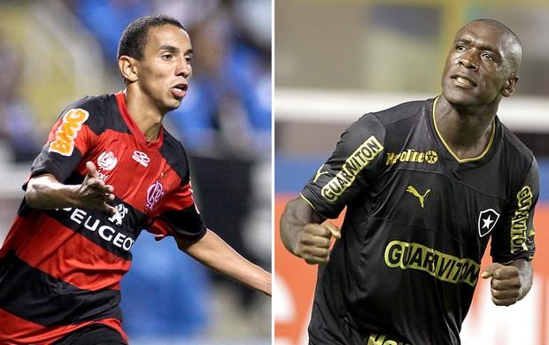 montagem Rafinha e Seedorf Flamengo x Botafogo Carioca (Foto: Editoria de Arte / Globoesporte.com)