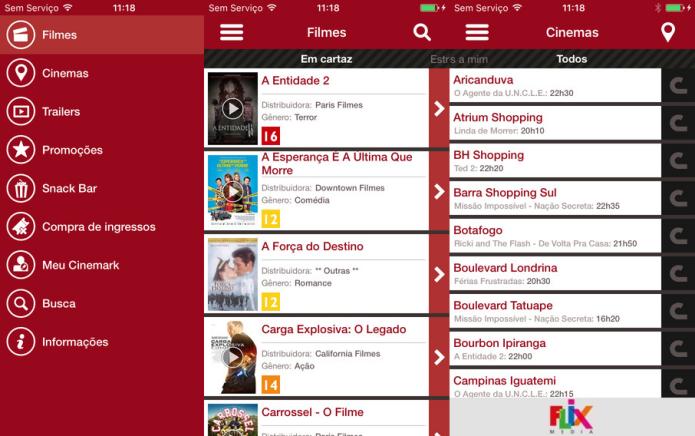 Acompanhe a programação da rede de cinemas Cinemark (Foto: Divulgação/AppStore)