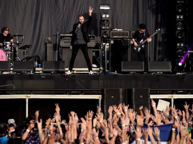 Kasabian empolga o público em apresentação no palco Onix (Foto: Marcelo Brandt/G1)