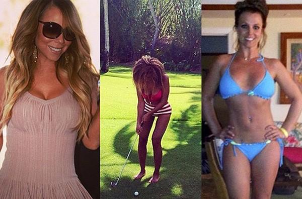 Mariah Carey, Beyoncé, Britney Spears (Foto: Reprodução / Redes Sociais)