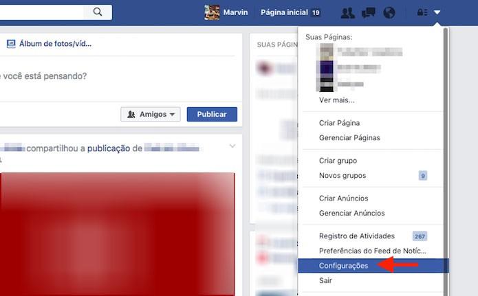 Acesso para as configurações do Facebook para desativar a opção que impede aplicativos de publicar em nome de um usuário (Foto: Reprodução/Marvin Costa)