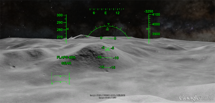 Simulador também pode ser usado na Lua e em Marte (Foto: Reprodução/Google)