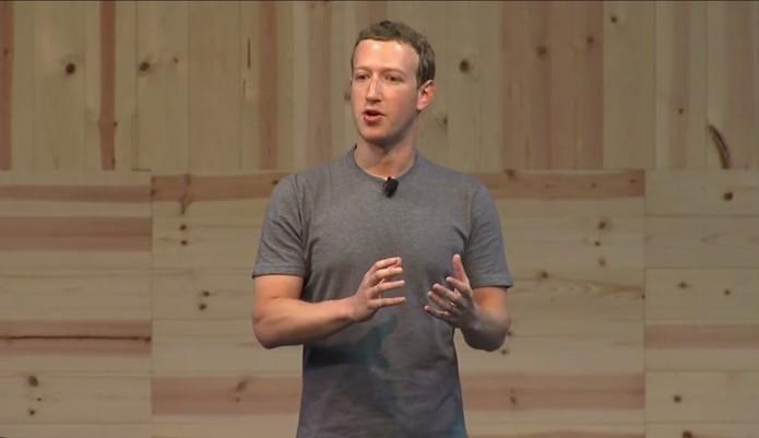 Mark Zuckerberg, CEO do Facebook, fala sobre o novo botão (Foto: Reprodução/Zíngara Lofrano)