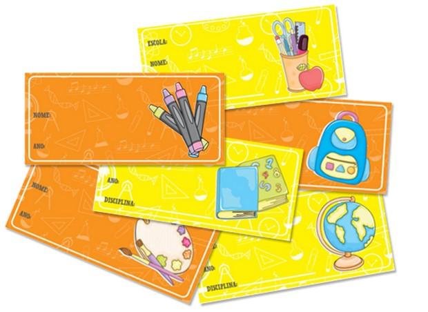 Etiquetas para identificar o material escolar do seu filho