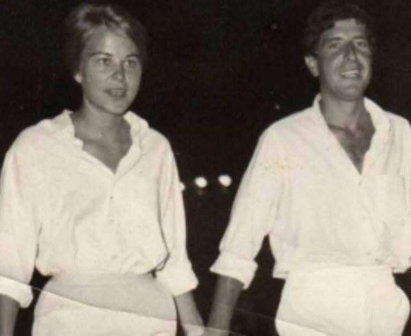 O cantor Leonard Cohen e sua musa, Marianne (Foto: Twitter)