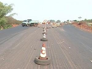 Segundo PRF, a velocidade no local é de 40 quilômetros por hora (Foto: Reprodução/TV Integração)