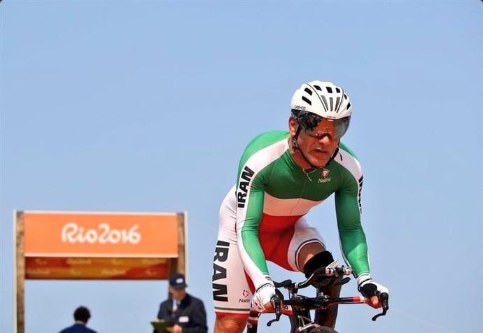 Bahman Golbarnezhad ciclismo Irã Paralimpíada Rio 2016 (Foto: Reprodução Twitter)