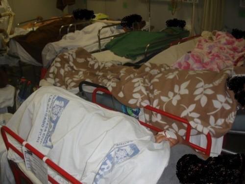 Foto (Foto: Falta espaço para tanto paciente no Hospital Salgado Filho. (Foto: Divulgação))