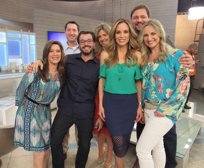 Ana Furtado com convidados do 'Encontro' (Foto: TV Globo)