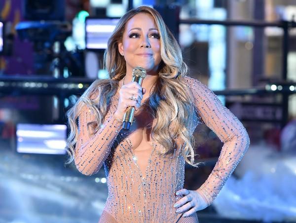 Mariah Carey durante show da virada (Foto: Getty Images)