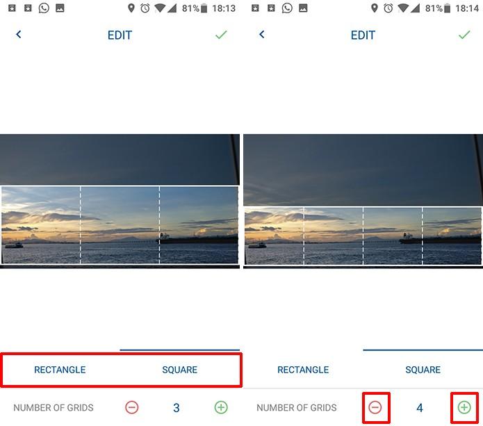 Altere o formato de imagem que usará no Instagram e o número de quadros (Foto: Reprodução/Elson de Souza)
