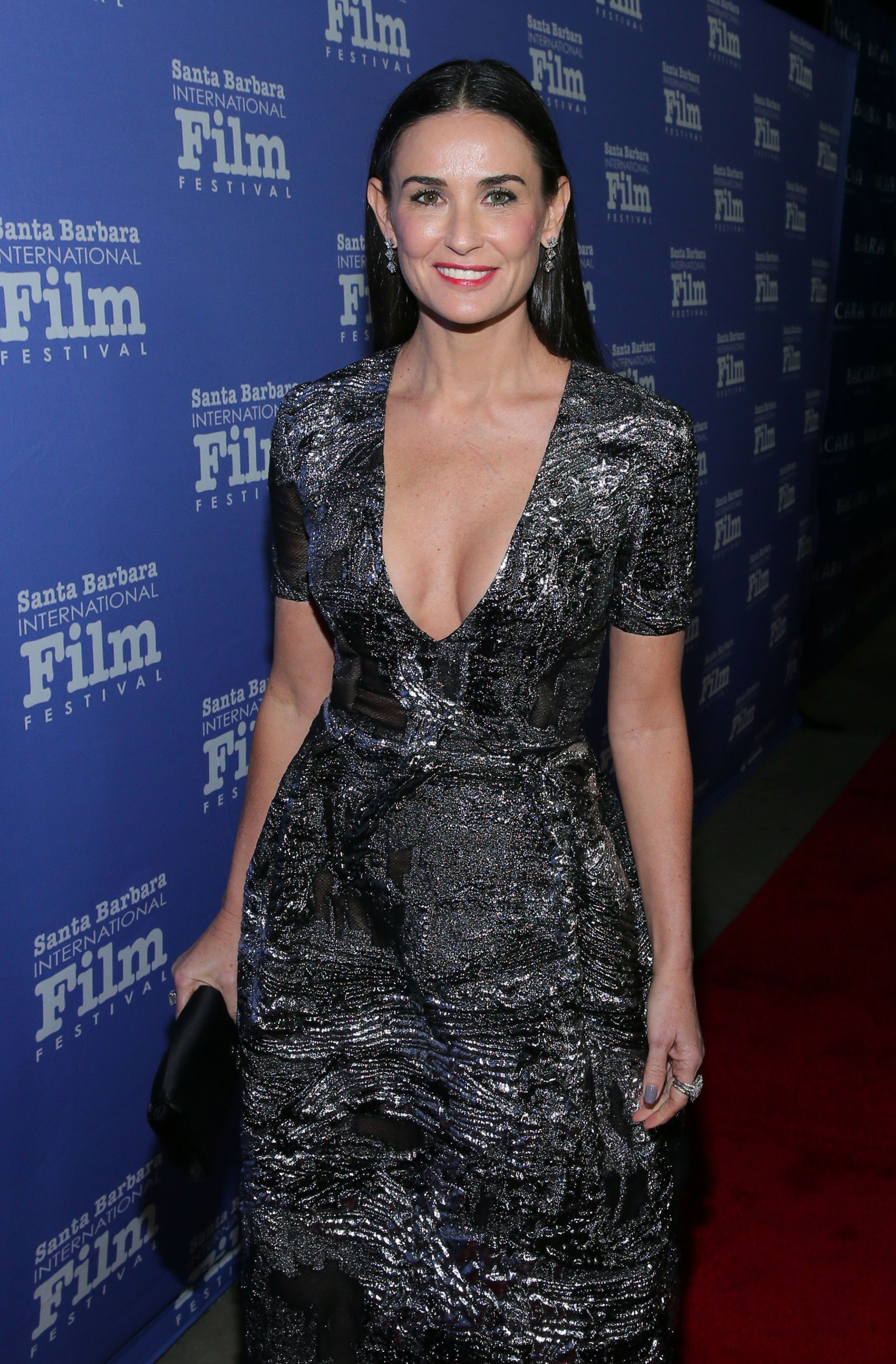 GOLETA, CA - NOVEMBER 16:  Actress Demi Moore attends the Santa Barbara International Film Festival 9th Annual Kirk Douglas Award for Excellence in Film honoring Jessica Lange held at the Bacara Resort on November 16, 2014 in Goleta, California  (Photo by (Foto: Editora Globo)