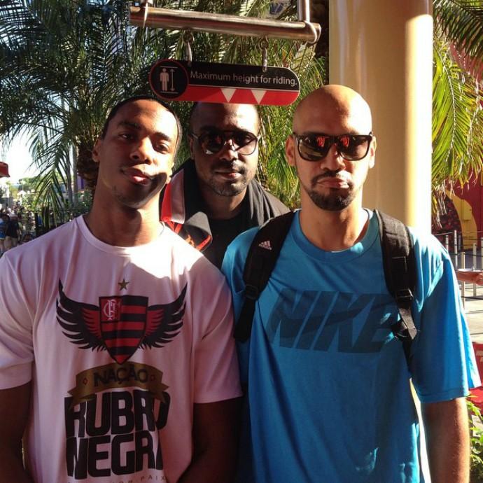 basquete flamengo orlando Derrick Caracter Jerome Meyinsse Marquinhos (Foto: Reprodução / Instagram)