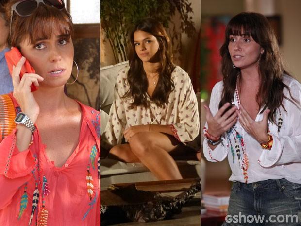 Clara e Luiza montam produções incríveis com lindas batas  (Foto: Em Familia/TVGlobo)