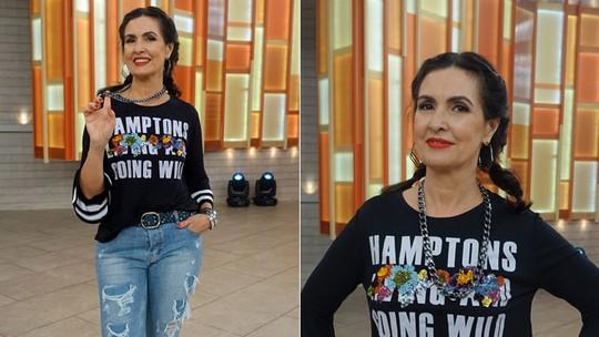 Fátima Bernardes aprende coreografia de 'Sou Eu', novo hit da Ludmilla; veja vídeo da dança