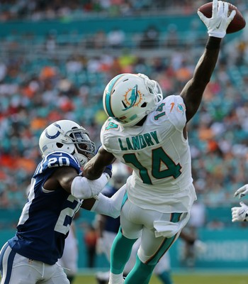Jarvis Landry Indianapolis Colts x Miami Dolphins NFL (Foto: Mike Ehrmann / Getty Images Sport)