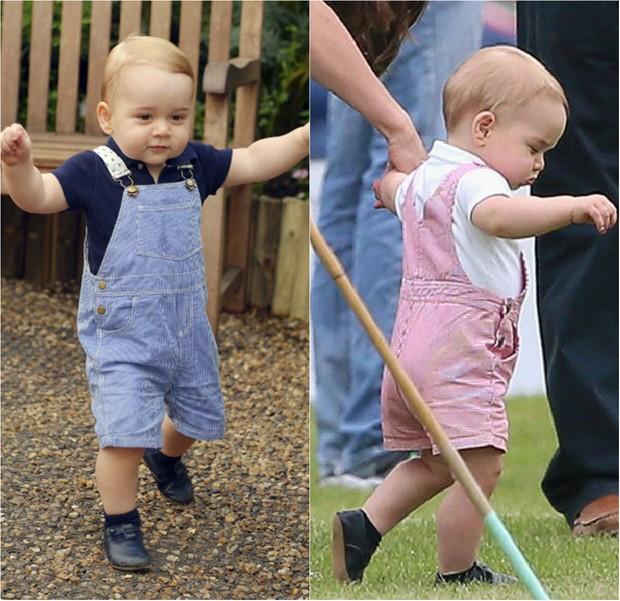 Príncipe George completa 2 anos e já mostra looks estilosos e baratinhos (Foto: Getty, Grosby e AFP)