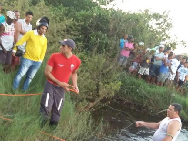 Irmãos morrem afogados em rio na Bahia (Foto:  Itaberaba Repórter)