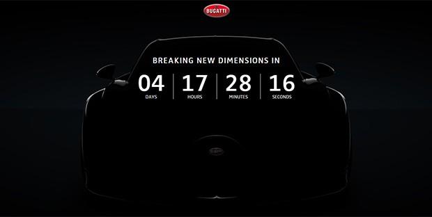 Bugatti começa contagem regressiva para lançamento do Chiron (Foto: Reprodução)