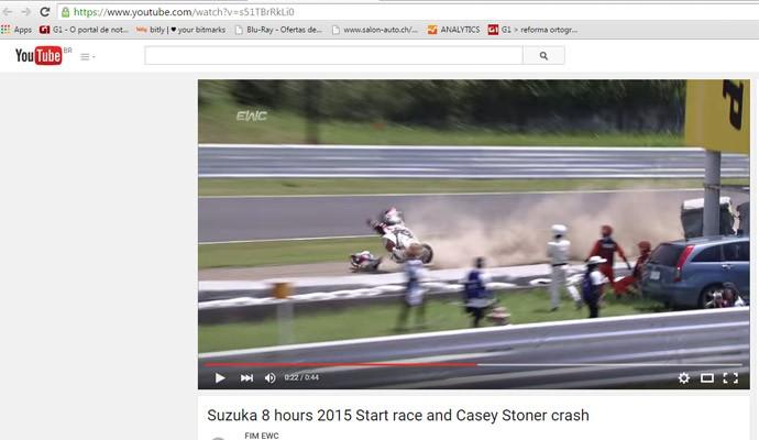 Acidente com Casey Stoner em Suzuka