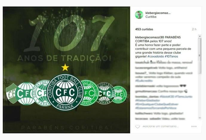 Kleber Coritiba aniversário (Foto: Reprodução/Instagram)