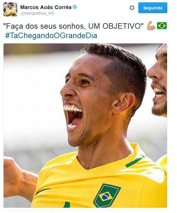 Marquinhos post final Rio 2016 (Foto: Reprodução/Twitter)