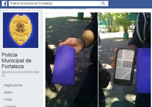 Guarda Municipal de Fortaleza relata golpe de venda de falso iPhone na Feira da Parangaba (Foto: Facebook/Reprodução)