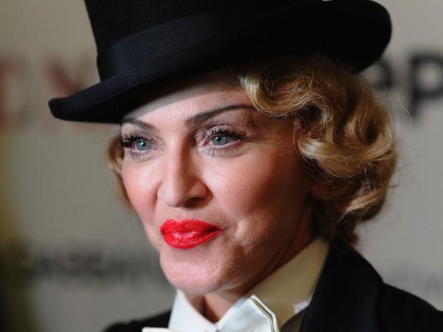 Madonna em première em Nova York, nos Estados Unidos (Foto: Dimitrios Kambouris/ Getty Images/ AFP)