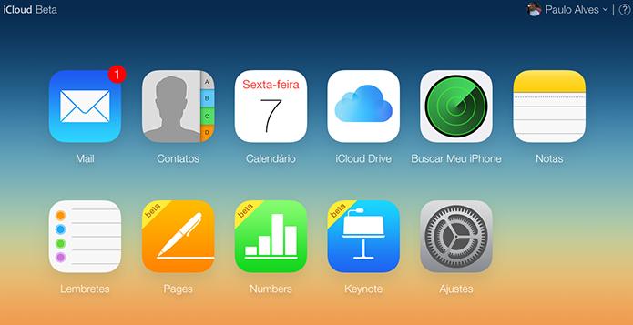 Apple atualiza apps do iOS e Mac e traz upload de fotos para o iCloud.com (Foto: Reprodução/Paulo Alves)