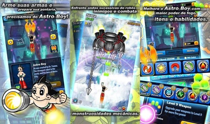 Astro Boy Flight parece simples, mas possui uma grande variedade de power-ups e habilidades para desbloquear (Foto: Divulgação)