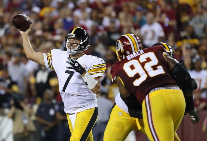 O Pittsburgh Steelers, do quarterback Ben Roethlisberger, venceu o Washington Redskins (Foto: Reuters)