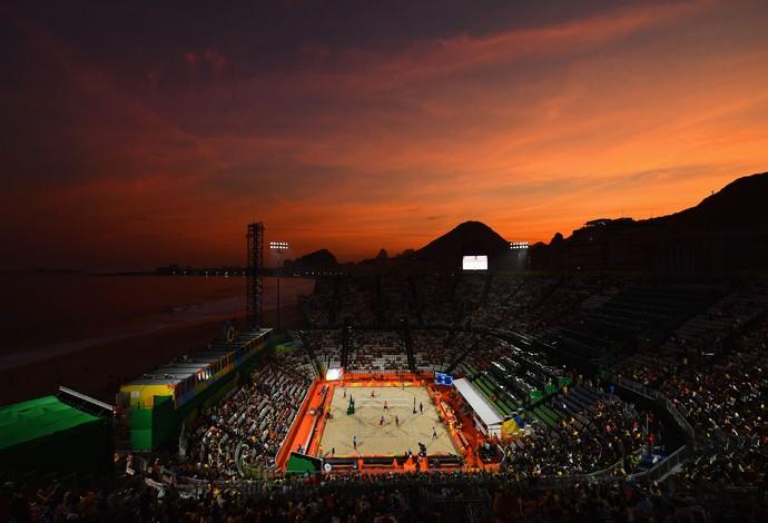 GALERIA - A bela imagem da Arena do vôlei de praia em Copacabana (Foto: Quinn Rooney/Getty Images)