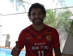 Ricardo Goulart Guangzhou Evergrande (Foto: Felipe Kyoshy/GloboEsporte.com)
